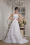 Cheap Strapless Organza Layers Bridal Dress For Wedding Wear Low Price