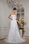 Lovely Strapless Corset Back Wedding Dress Covered With Lace Low Price
