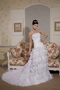 Perfect Strapless Layers Cascade Organza and Lace Bridal Gown Low Price