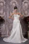 Pretty Strapless A-line Destination Wedding Dress With Beading Low Price