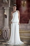 Column One Shoulder Organza Pleat and Beading Beach Wedding Dress Low Price
