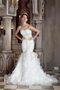 Sweetheart Trumpt Ruffles Skirt Affordable Wedding Dress Low Price Low Price