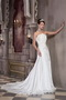 Discount A-line Strapless Wedding Dress With Handmade Flowers Decorate Low Price