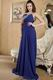 Elegant One Shoulder Royal Blue La Prom Dress With Applique