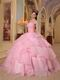 Good Looking Layers Pink Skirt Puffy Quinceanera Girls Dress