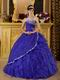 Floor Length Ruffled Skirt La Dress For Quinceanera Party