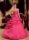 Strapless Coral Red Quinceanera Dress With Applique