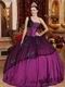 Single One Shoulder Purple Coming-of-age Ceremony Girls Dress