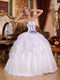 Lavender Details Ruffle Skirt Strapless 2014 Quinceanera Dress