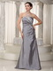 Gray Sweetheart Floor-length Prom Dress Taffeta Cheap Price Night Club