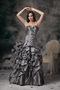 Sweetheart Floor-length Grey Taffeta Night Club Dresses Night Club