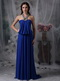 Unique Halter Chiffon Evening Night Club Dress In Royal Blue Night Club