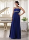 Royal Blue Chiffon Floor Length Night Club Evening Dress Night Club