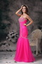 2013 Hot Pink Floor-length Fashion Prom Dresses Mermaid Night Club
