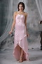 Pink Straps V Halter High-low Prom Dress For Discount Short and Long Skirt