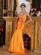 Pretty Sheath Orange Taffeta 2014 Prom Party Dress