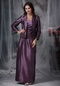 Dark Purple Strapless Mother Of Bride Dress And Coat Modest
