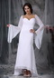 Simple High-low Long Sleeves White Mother Of Bride Dress Modest