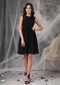 High-neck Black Short Mother Of The Dress With Lace Modest
