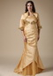 Golden Mermaid Mother Of The Bride Dress With Jacket Modest