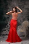 Scarlet Mermaid Straps Mother Of The Bride Dress Two Pieces Modest
