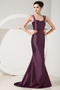 Dark Purple Mermaid Wide Straps Mother Of Bride Dress And Jacket Modest
