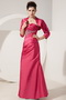 Coral Red Mother Of The Bride Dress And Taffeta Jacket Modest