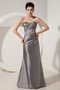 Grey Column Mother Of The Bride Dress Sweetheart Neck Style Modest