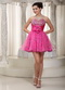 Fuchsia Sweetheart Mini Prom Dress Designer Your Own 2014 Knee Length Sexy