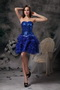 Royal Blue Sweetheart Lace Up Short Prom Dress Knee Length Sexy