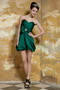 Dark Green Sweetheart Mini-length Sexy Short Prom Party Dress Knee Length Sexy