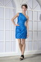 Cache One Shoulder Mini-length Prom Dress Royal Blue Mini Dress Knee Length Sexy