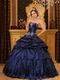 Remarkable Handmade Navy Dress To Girls Quinceanera Party