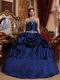 Navy Blue Appliques Decorate Find Quniceanera Ball Gown