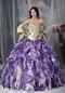 Colorful Ball Gown Ruffles Cascade Lovely Quinceanea Dress Like Princess