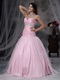 Baby Pink Sweetheart Beading Dresses For Quince Wear Like Princess