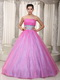 Hot Pink Handmade Beading Belt Dress for a Quinceanera Party Like Princess
