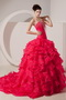 Best Fuchsia Organza Prom Dress For 2014 Junior Girl Wear Like Princess