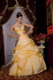 Mimosa Strapless Floor-length Tafftea Prom / Evening Dress Puffy Like Princess