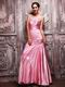 Fuchsia Taffeta Evening Dresses UK With One Shoulder