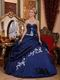 Sleeveless Navy Blue Quinceanera Dress Under 200 Dollars