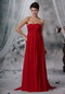Strapless Watteau Wine Red Chiffon Maternity Prom Dress Inexpensive