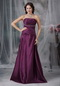 Strapless A-line Dark Purple Cache Prom Dress For Sale Inexpensive