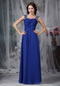 Criss Cross Design Prom Dress Made By Royal Blue Chiffon Inexpensive