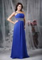 One Shoulder Floor-length Royal Blue Prom Dress Cheap Inexpensive