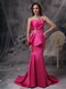 Hot Pink Mermaid Petite Prom/Evening Dress For Lady Wear Inexpensive