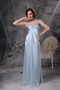 Light Blue One Shoulder Long Pageant Dress For Discount Inexpensive