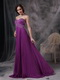 Purple Empire Sweetheart Beaded Prom Dress Made By Chiffon Inexpensive