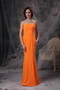 Mermaid Strapless Floor-length Slim Prom Dress Orange Inexpensive