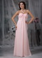 Halter Top Neck Pink Chiffon Prom Dress For Girl Wear Inexpensive